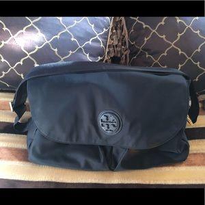 Tory Burch Black Messenger Baby Bag Tote Handbag